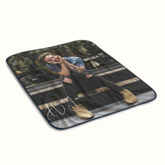 Cute Harry Styles Smiling Fleece Blanket