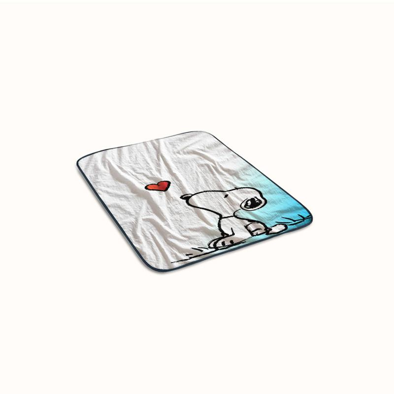 Cute Snoopy Love Fleece Blanket