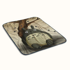 Cute Totoro My Neighbor Fleece Blanket