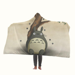 Cute Totoro My Neighbor Hooded Blanket