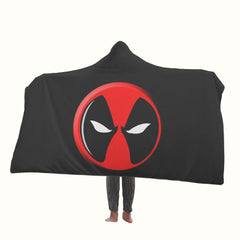 Deadpool Logo Hooded Blanket