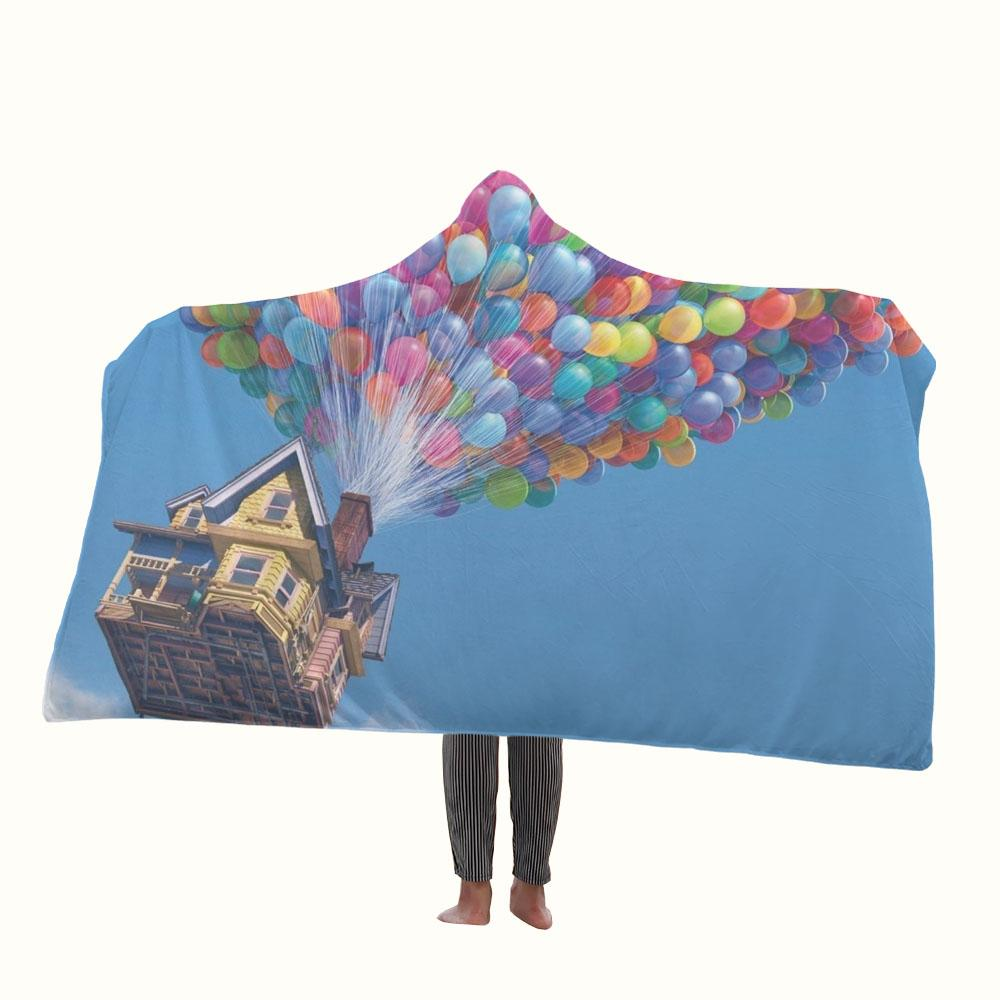 Disney Pixars Up Balloons Hooded Blanket