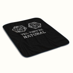 Dungeons and Dragons Yes They are Natural Fleece Blanket