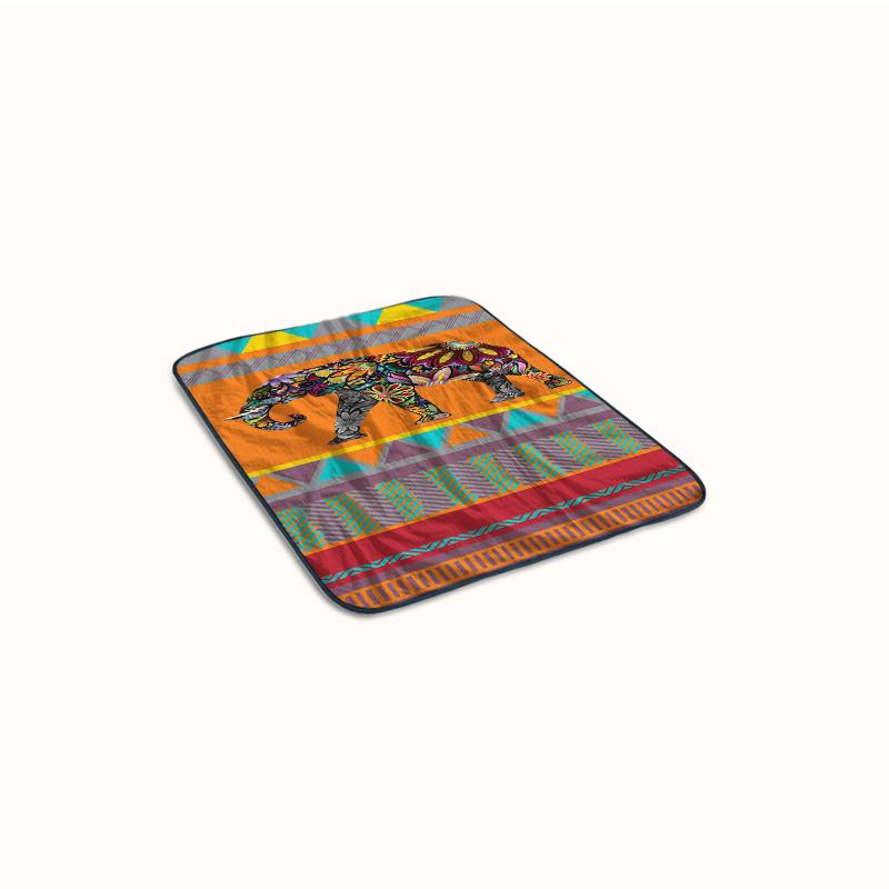 Elepant Aztec Fleece Blanket