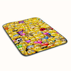Emoji Pattern Collage Fleece Blanket