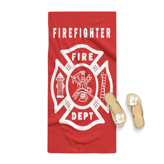 FIREFIGHTER Fire Dept FIREMAN First Responder Towel