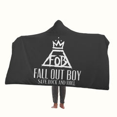 Fall Out Boy Save Rock and Roll Hooded Blanket