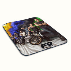 Fast and Furious 9 Poster Fleece Blanket