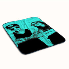 Funny Ariana Grande and Justin bieber Fleece Blanket