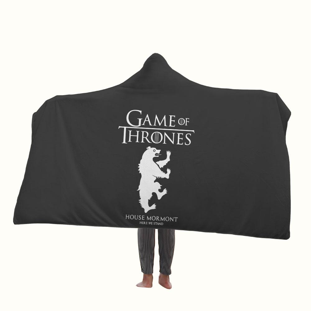 Game of Thrones House Mormont Logo Hooded Blanket