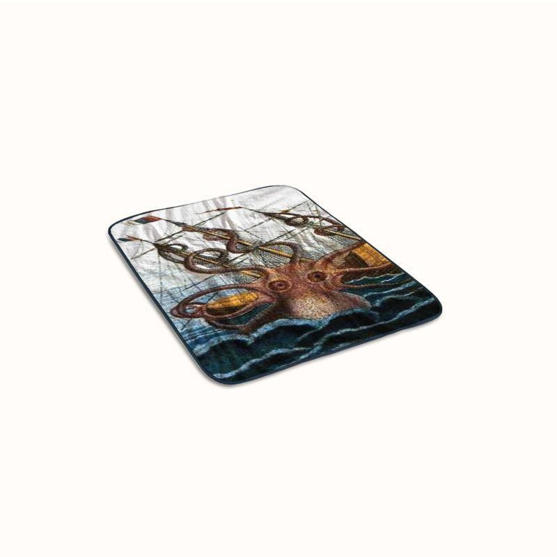 Giant Squid Kraken Sea Monster Myth Fleece Blanket