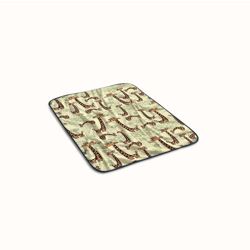 Giraffe cartoon Fleece Blanket