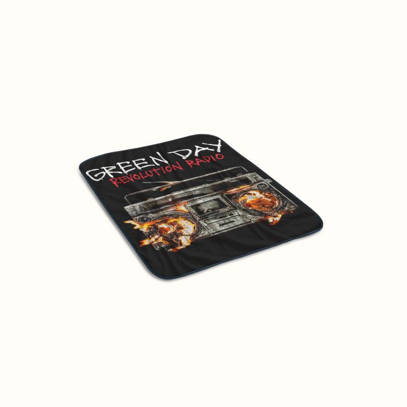 Green Day Revolution Radio Fleece Blanket