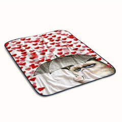 Grumpy Cat Love Rain Fleece Blanket