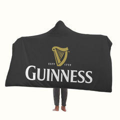 Guinness Logo Hooded Blanket