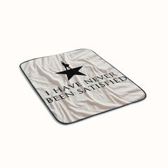 Hamilton American Musical Quotes Fleece Blanket