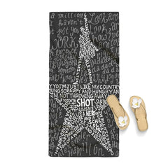 Hamilton Musical Lyrics Towel