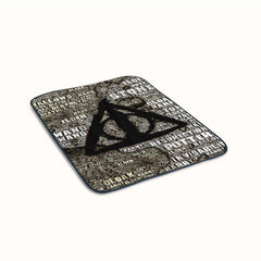 Harry Potter Symbol Quotes Typhograpy Fleece Blanket