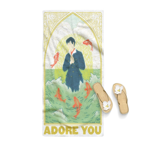 harry styles adore you poster towel