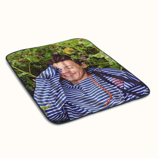 Harry Styles Another Man Floral Fleece Blanket