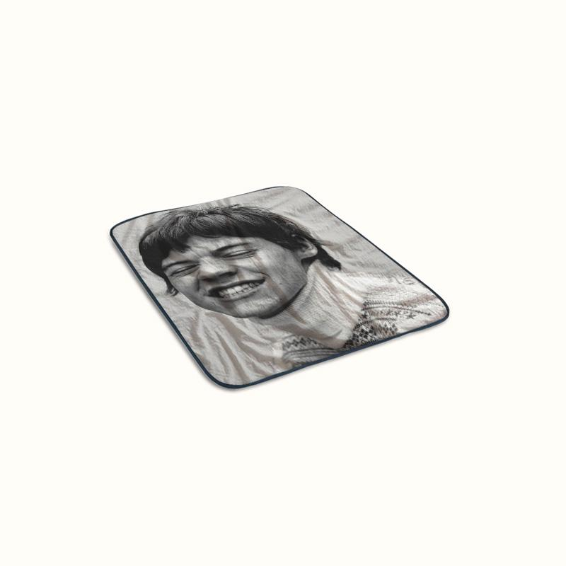 Harry Styles Another Man Funny Face Fleece Blanket