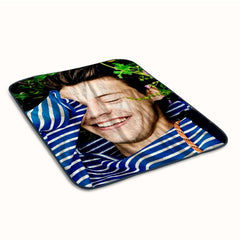 Harry Styles Funny Face Fleece Blanket