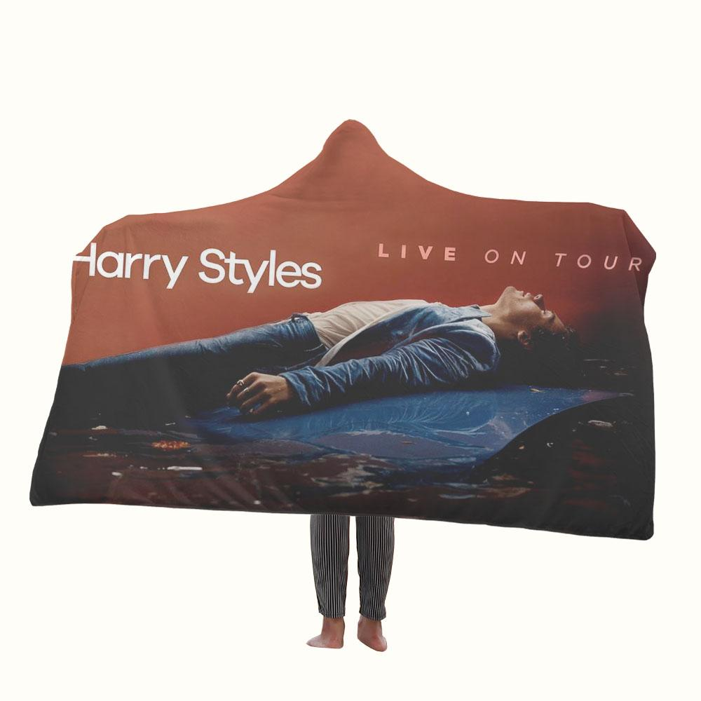 Harry Styles Live on Tour Hooded Blanket