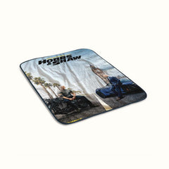 Hobbs and Shaw Poster Fleece Blanket