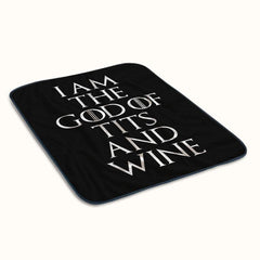 I Am The God of Tits and Wine Fleece Blanket