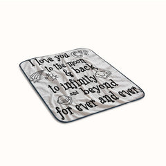I Love You to the Moon Quotesr Fleece Blanket