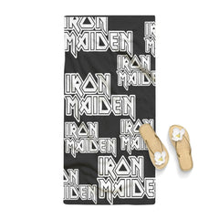 Iron Maiden Band Logo Pattern Towel