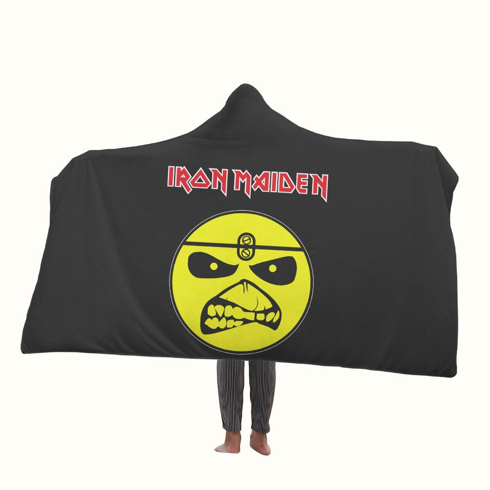 Iron Maiden Eddie Smiley Hooded Blanket