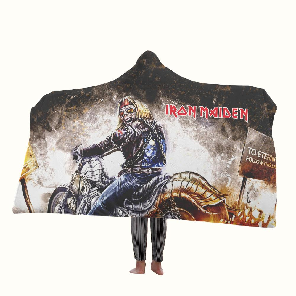 Iron Maiden Rock Star Hooded Blanket