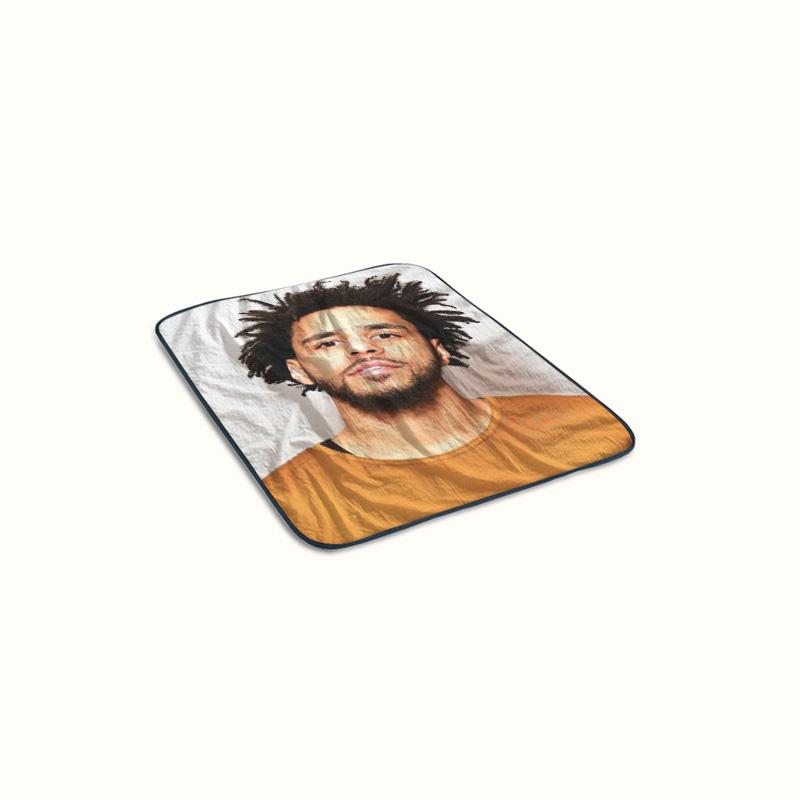 J Cole Face Fleece Blanket