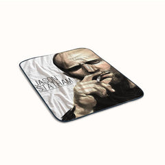 Jason Statham Painting Smoking Fleece Blanket