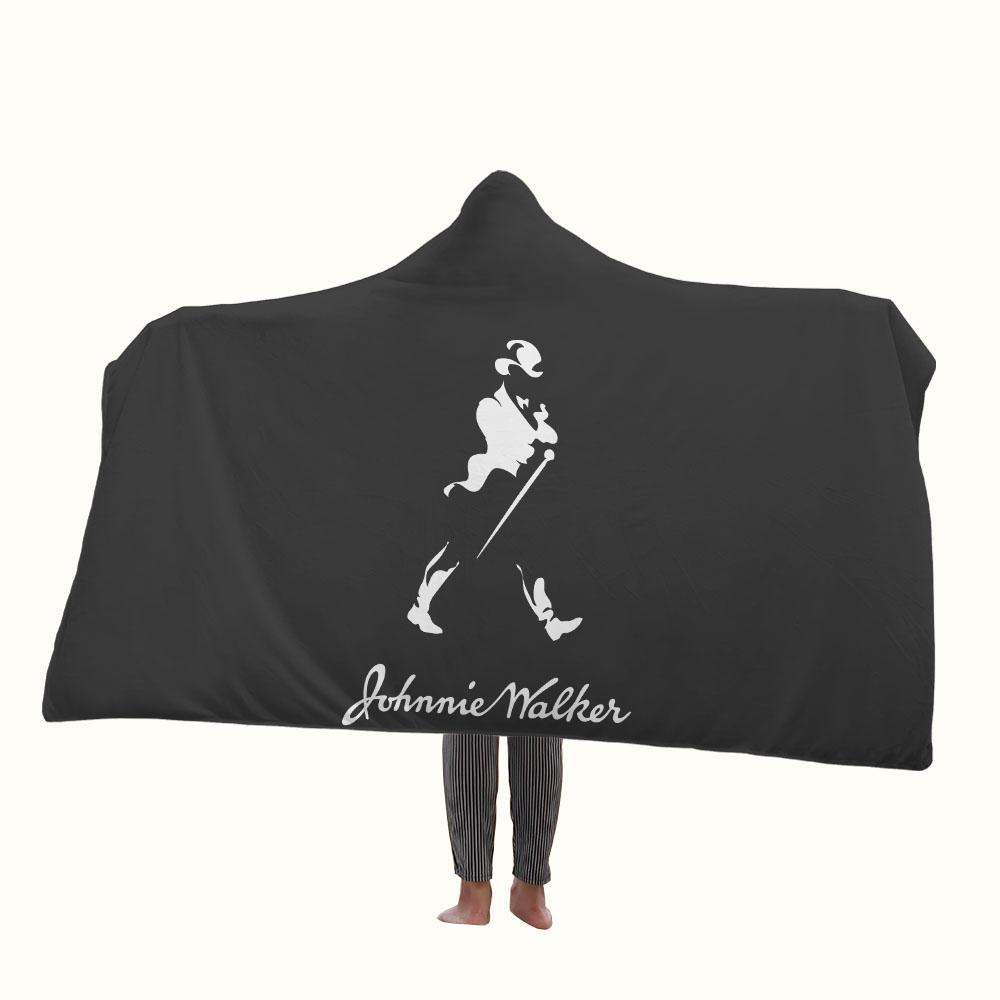 Johnnie Walker Logo Hooded Blanket