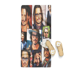 Johnny Depp Collage Winter Towel