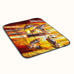Judas Priest Firepower Album Cover Fleece Blanket