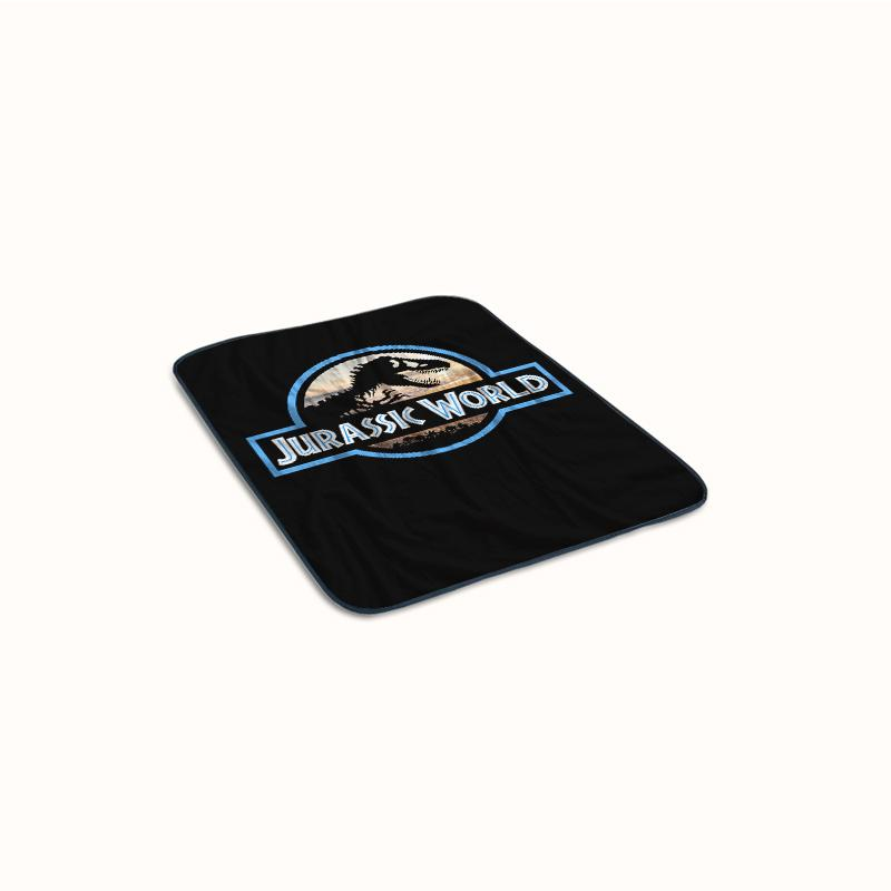 Jurassic Summer World Logo Fleece Blanket
