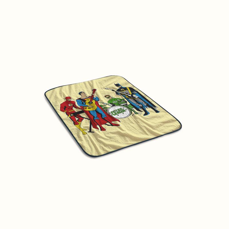 Justice League Rock Band Fleece Blanket