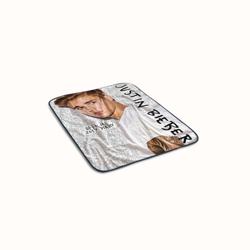 Justin Bieber Official 2017 Diary Fleece Blanket