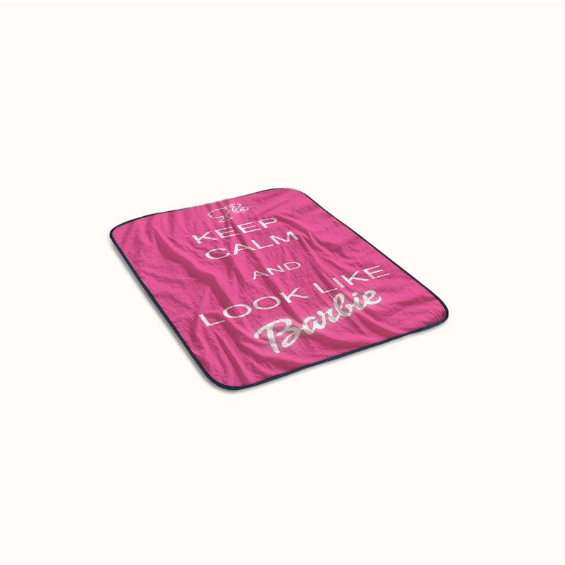 Keep Calm And Look Like Barbie Quotes Fleece Blanket