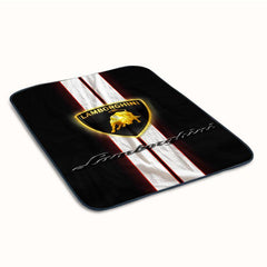 Lamborghini Logo Fleece Blanket