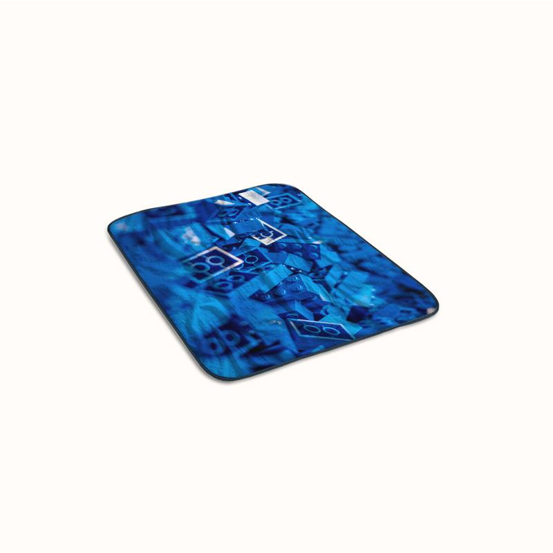 Lego Block Pattern Blue Fleece Blanket