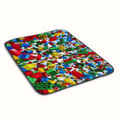 Lego Block Pattern Collage Fleece Blanket
