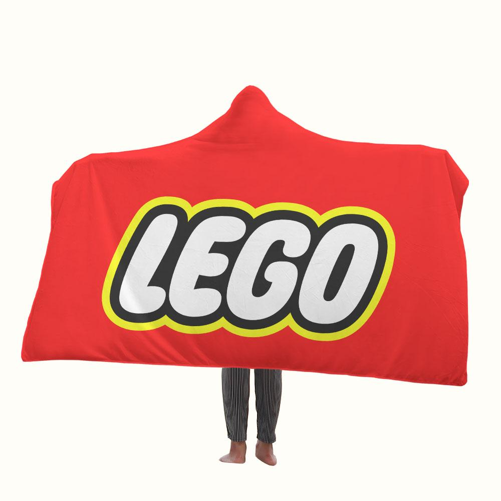 Lego Logo Hooded Blanket