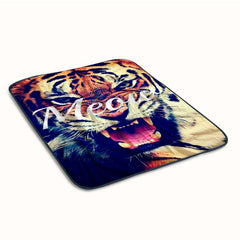 Leon Meow Covers Fleece Blanket