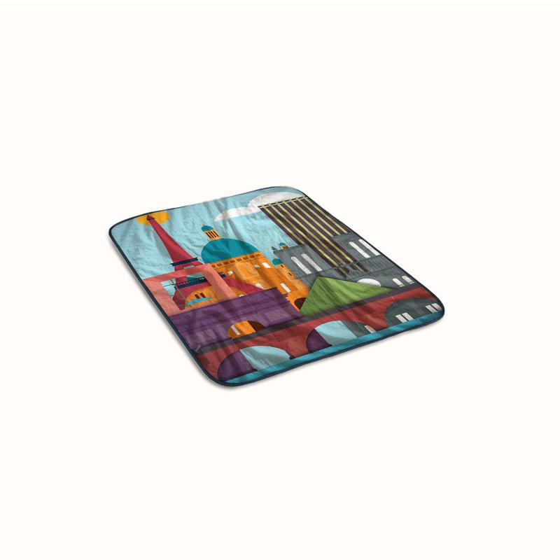 London Scenes city Fleece Blanket