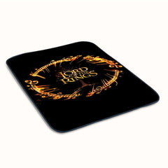 Lord of the Rings Circle Script Cute Fleece Blanket
