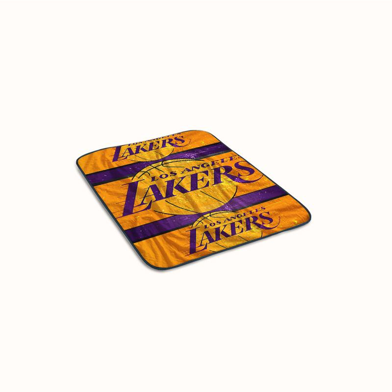 Los Angeles Lakers Collage Logo Fleece Blanket